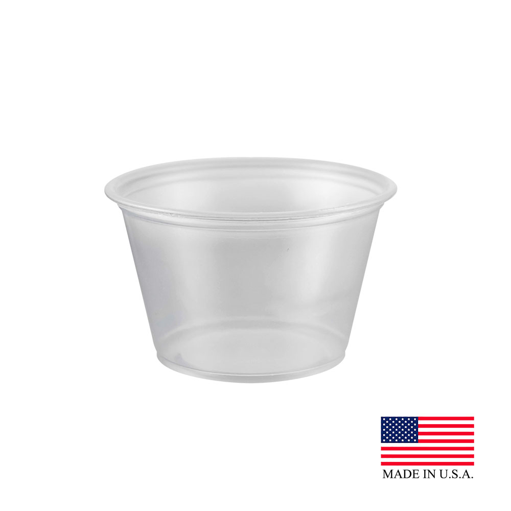 Dart - Clear 4 oz. Plastic Souffle Portion Cup 400PC