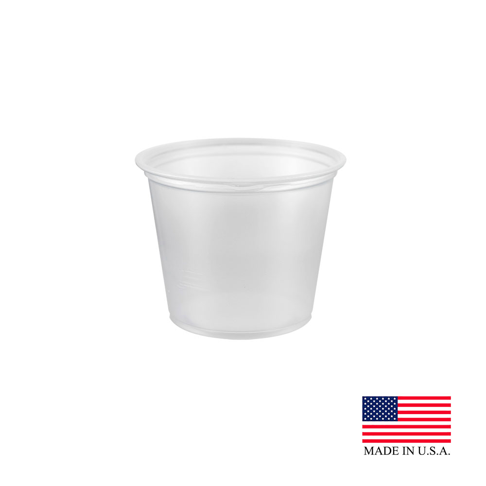 Dart - Clear 5.5 oz. Plastic Souffle Portion Cup 550PC