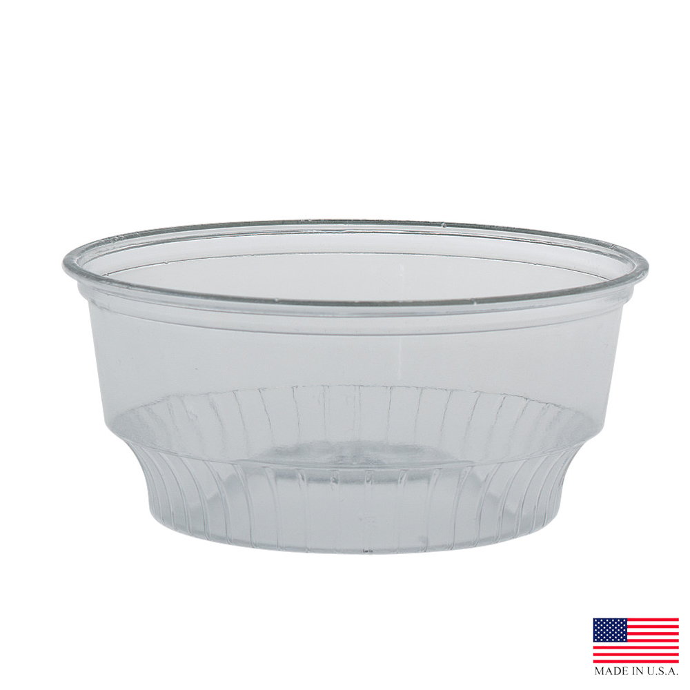 Solo Cup Co. - SoloServe Clear 5 oz. Round Plastic Dessert- Sundae Cup SD5