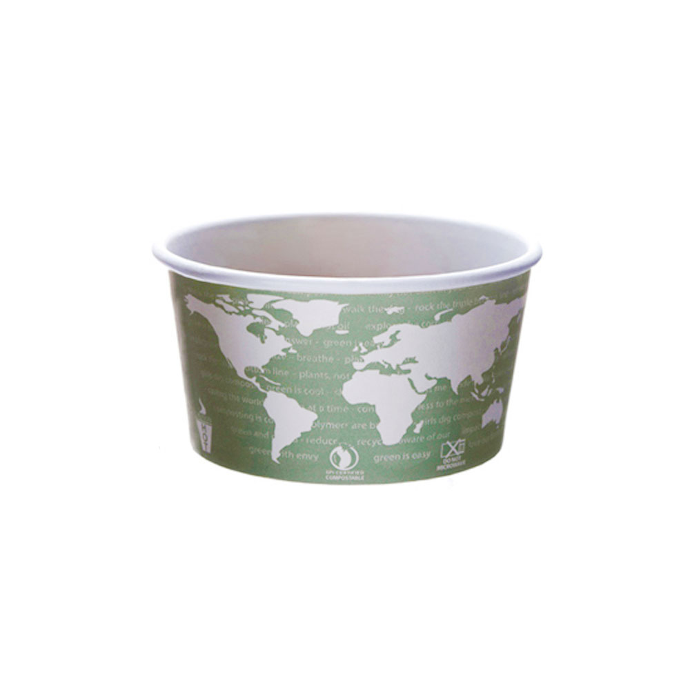 Eco Prod 12 oz. Paper Soup Containers / Food Cups , World Art EP-BSC12-WA