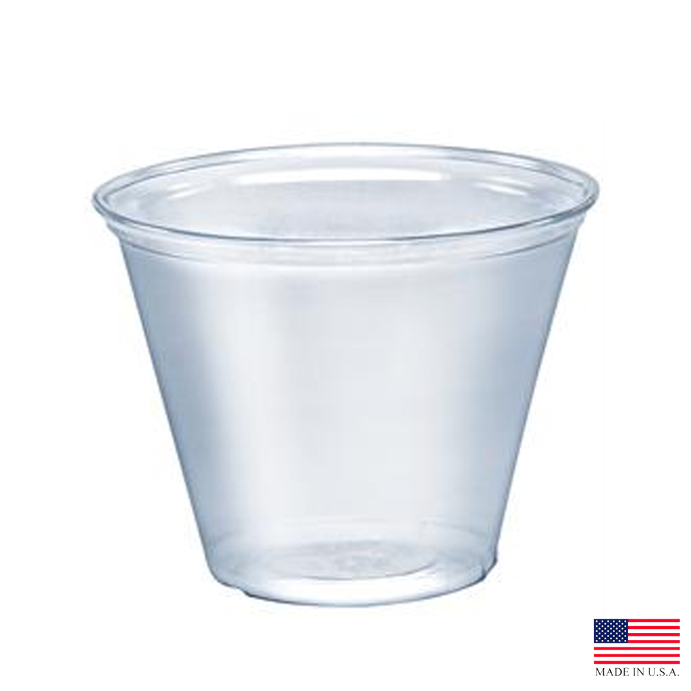 Solo Cup  Clear 9oz Pet Squat Cup TP9R
