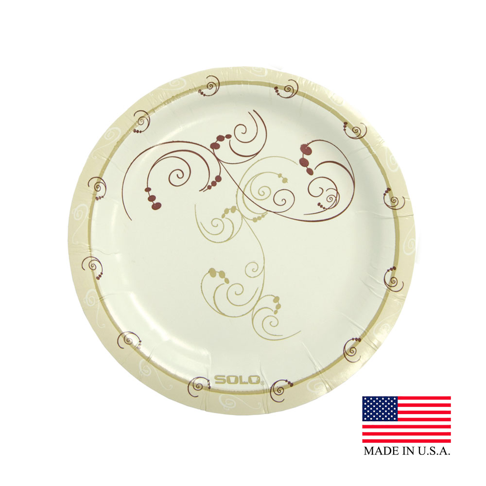 "Solo Symphony 6"" Medium Weight Round Paper Plate MP6-J8001"