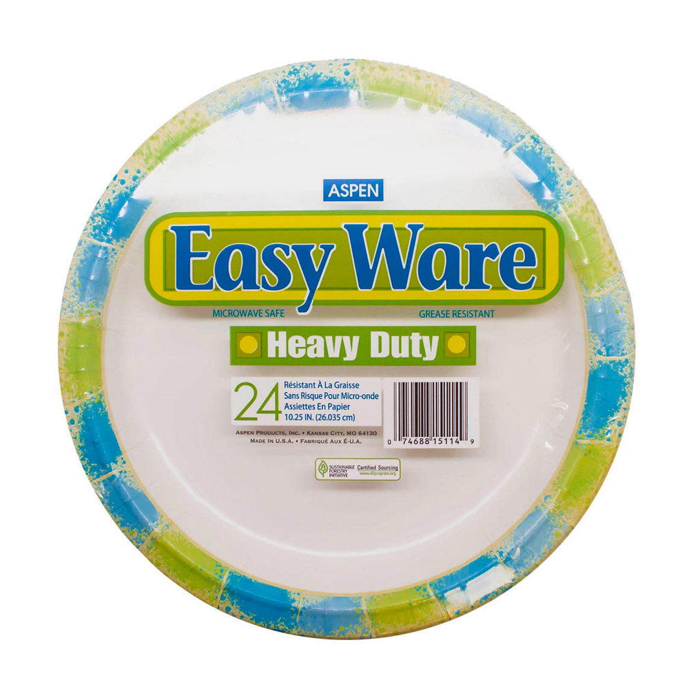 "Aspen Products - Easy Ware Design 10"" Coated Paper Plate 15114"