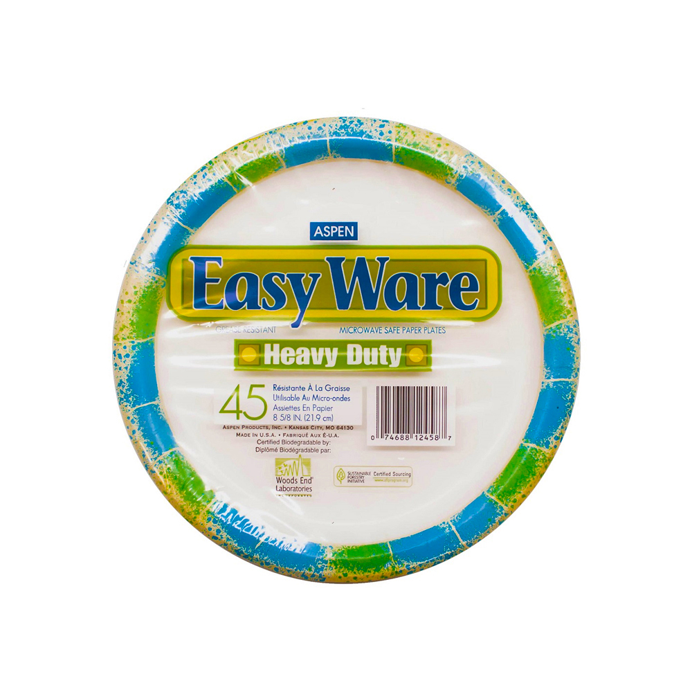 "Aspen Products - Easy Ware Design 8.75"" Coated Paper Plate 12458"