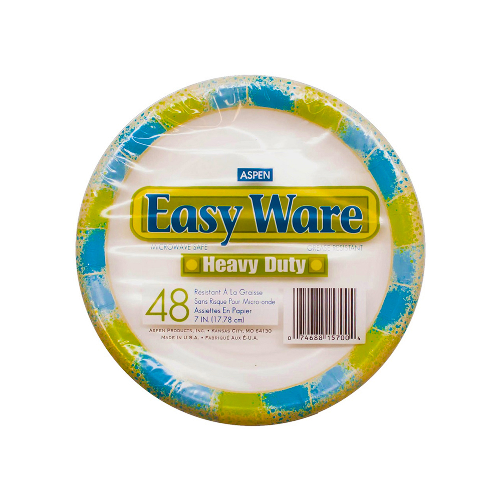 "Aspen Products - Easy Ware Design 7"" Coated Paper Plate 15700"