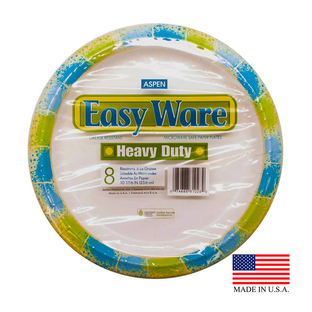 "Aspen Products - Easy Ware Design 10"" Coated Paper Plate 16810-9"