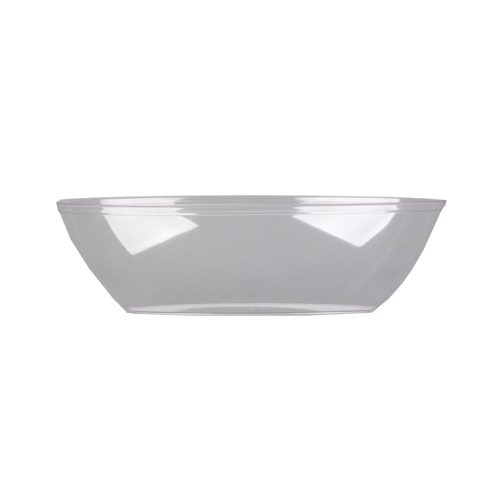 WNA/Comet - Caterline Clear 128 oz. Heavy Round   Plastic Bowl A7GBCL