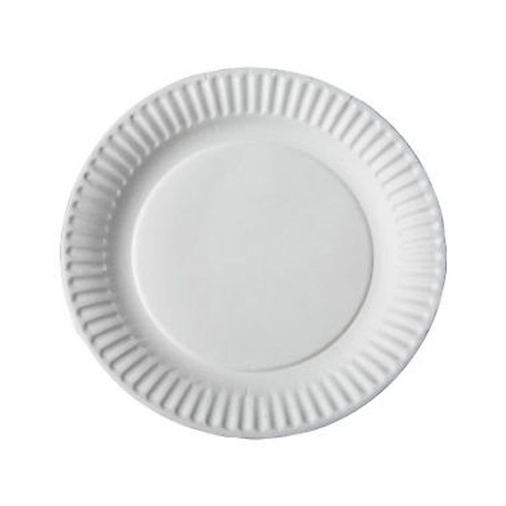 "Aspen Products - Easy Way White 9"" Uncoated Paper Plate 10109"