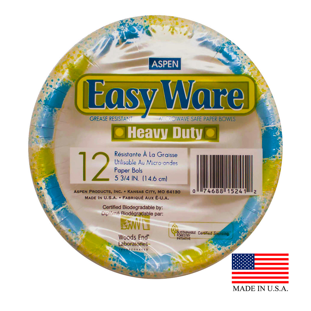 Aspen Products - Easy Ware Design 12 oz. Coated Paper Bowl 15241-5