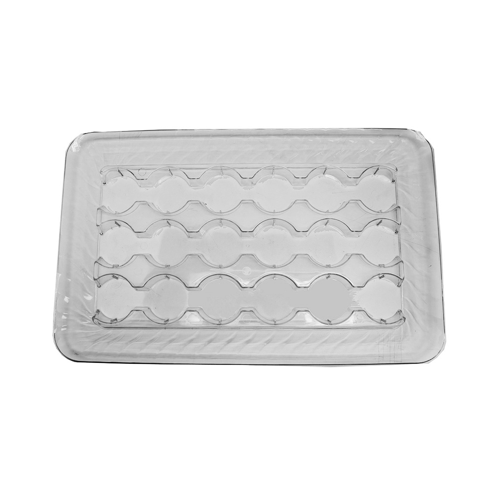 "Novelty Crystal Clear 18""x12""x1.5"" 18 Compartment Rectangular Cup Cake Platter 1267"