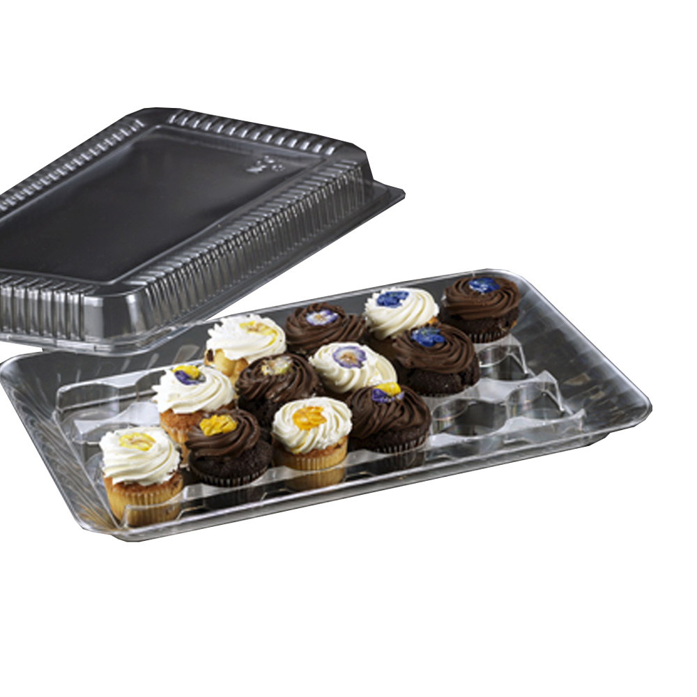 Novelty Crystal Clear Cupcake Tray & Cover Set 1268