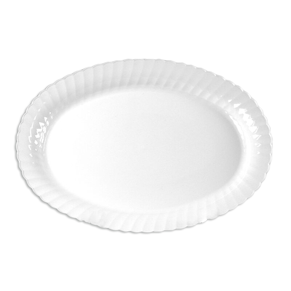 "Comet White 9.5""x13"" Oval Plate CWOP144W"