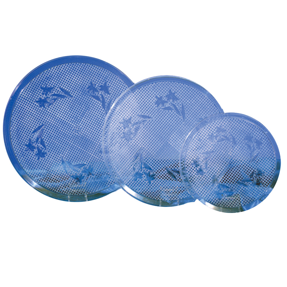 "Novelty Crystal Clear 16"" Round Tray 1516"