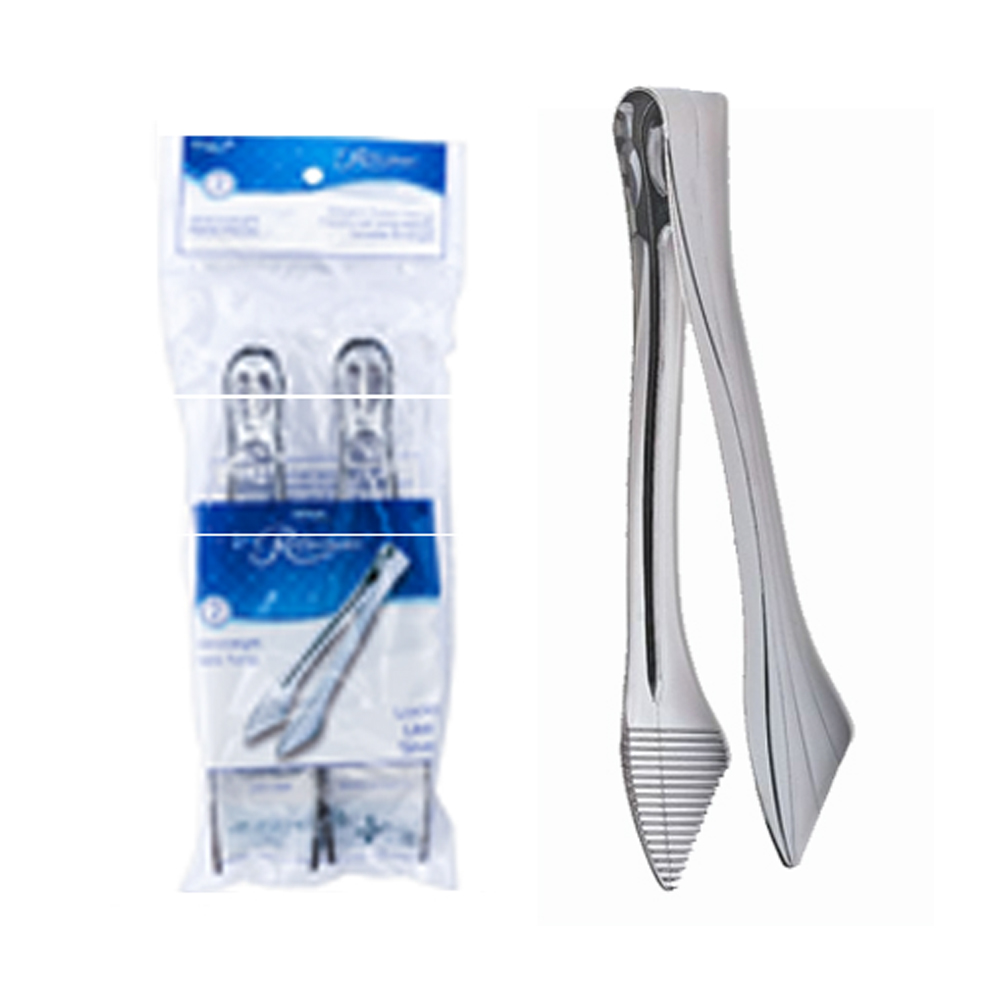 Comet Silver Reflections Plastic Tongs Retail Bag RFTNG602