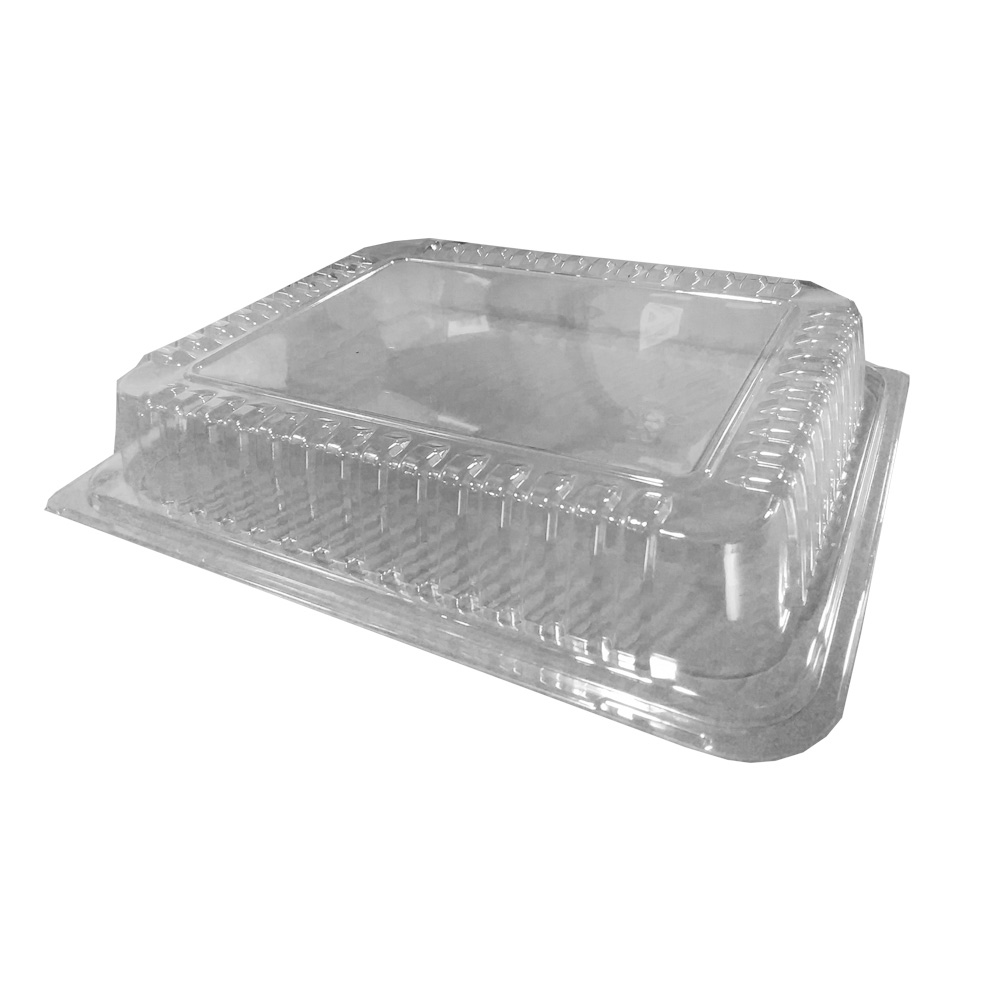 "Novelty Crystal Clear 8""x10"" Snap On Rectangular  Dome Lid 1750"