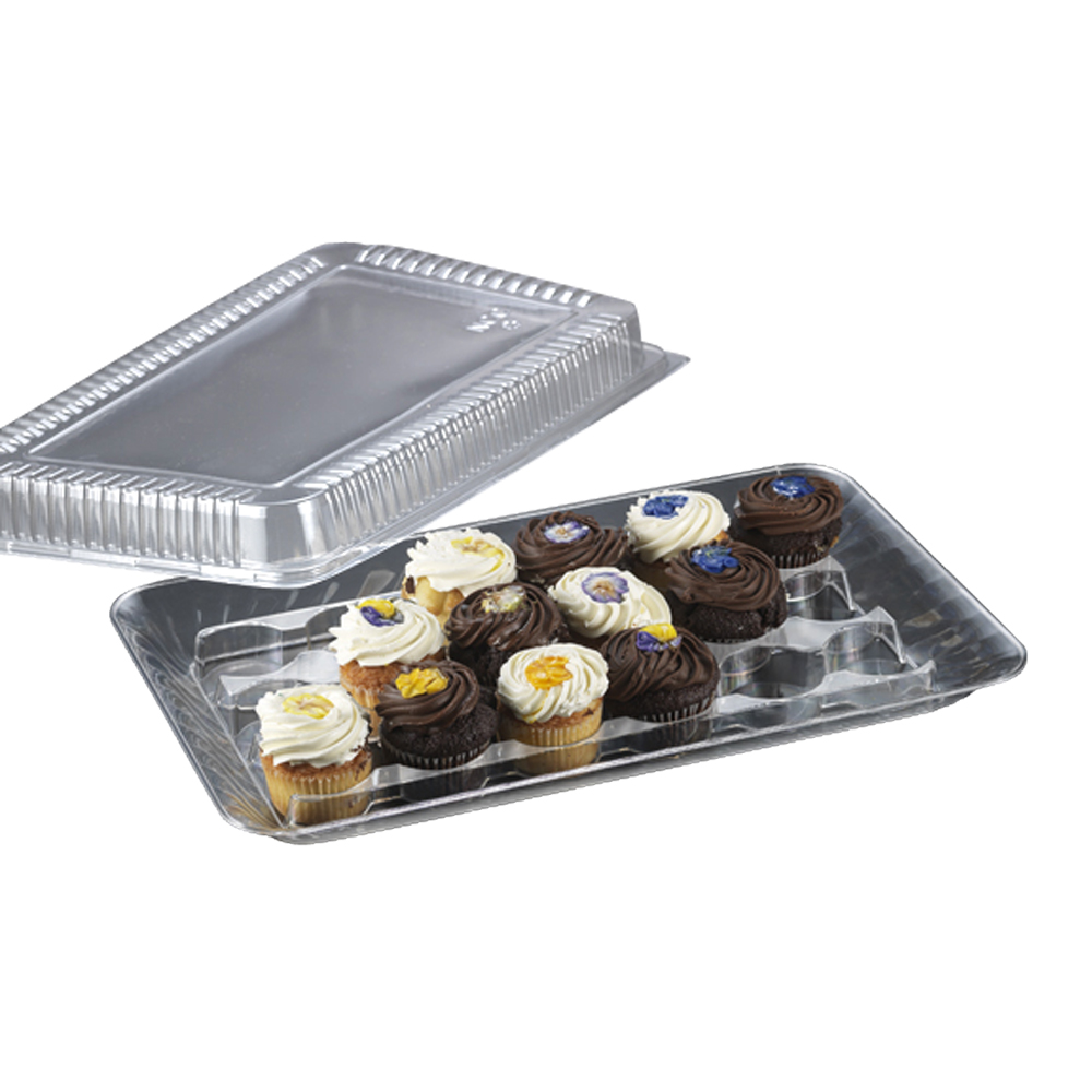 "Novelty Crystal Clear 12""x18""x2"" Snap On          Rectangular Dome Lid 1756"