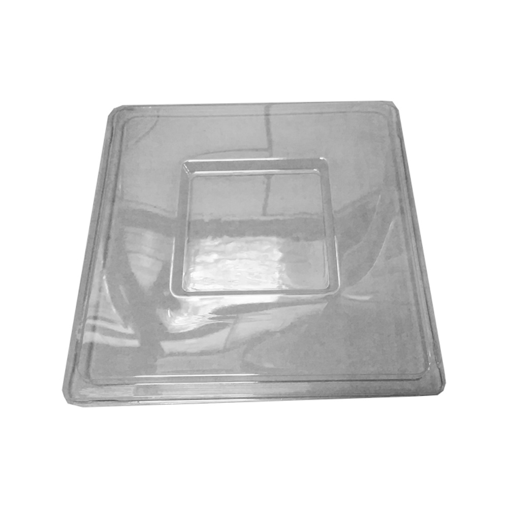 Novelty Crystal Clear Square Lid For 64oz Bowl    1762
