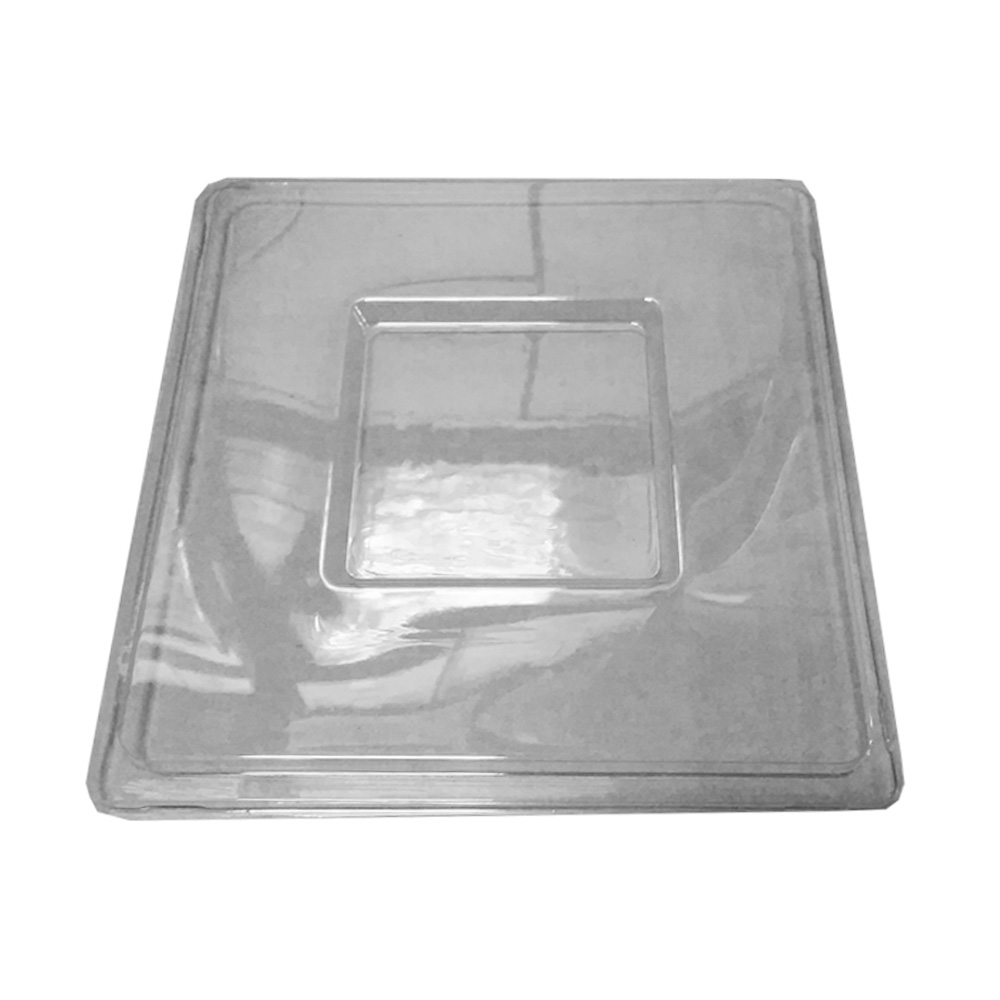 Novelty Crystal Clear Square Lid For 96oz Bowl    1763