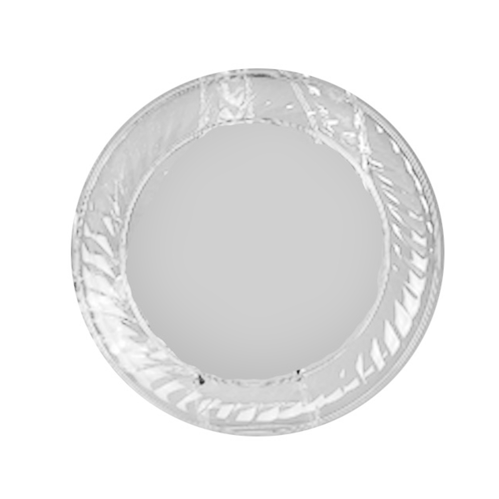 "Novelty Crystal Clear 12"" Round Scalloped Edge Tray 1232"