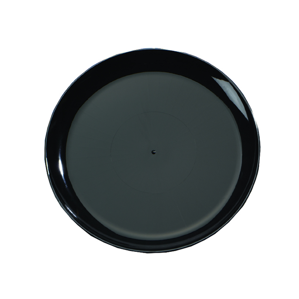 "Comet Black 18"" Round Catering Tray A718PBL25"