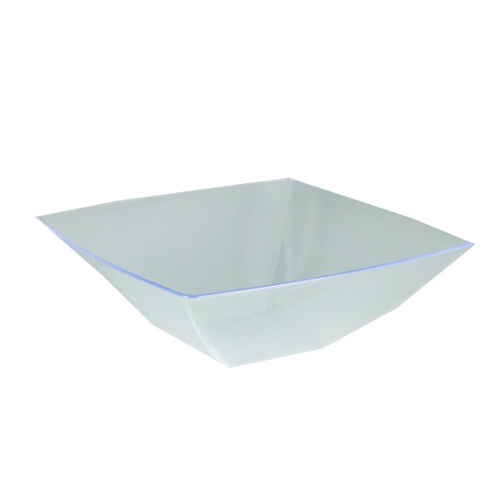 Maryland Plastics Inc. - Simply Squared Clear 32 oz. Plastic Presentation Bowl SQ80326