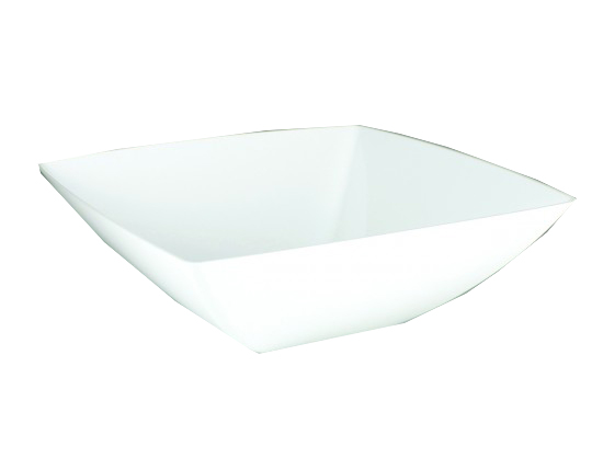 Maryland Plastics Inc. - Simply Squared White 64 oz. Plastic Presentation Bowl SQ80640