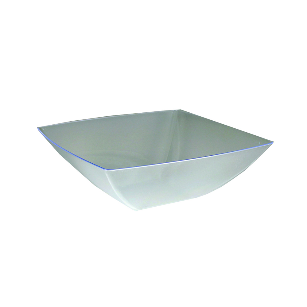 Maryland Plastics Inc. - Simply Squared Clear 64 oz. Plastic Presentation Bowl SQ80646