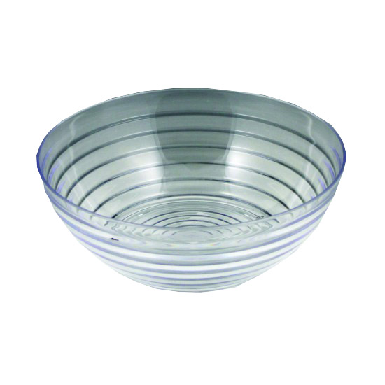 Maryland Plastics Inc. - Crystalware Clear 1 Qt Plastic Ringed Bowl MPI03326