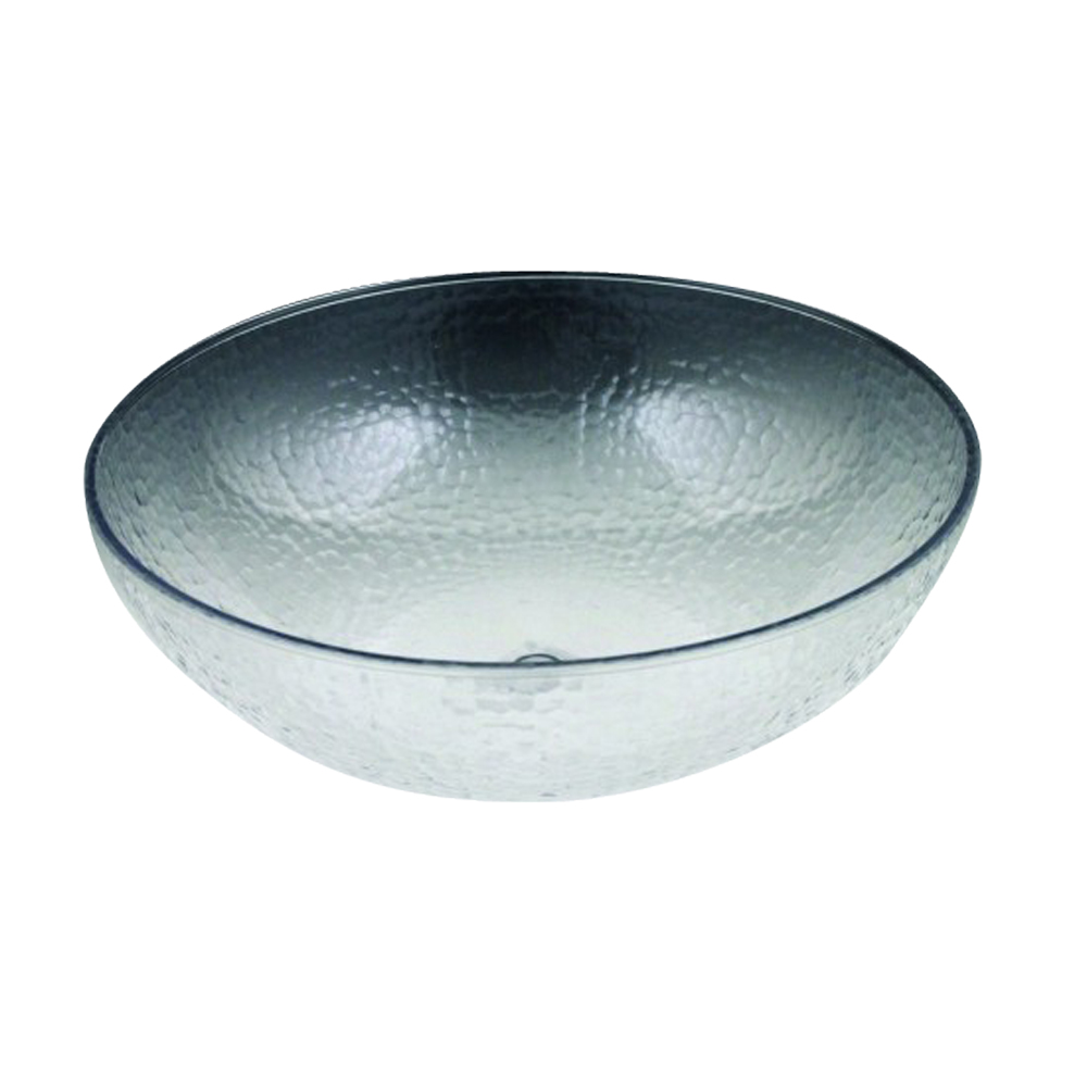 "Maryland Plastics Inc. - Crystalware Clear 15"" Plastic Hammered Bowl MPI03156"