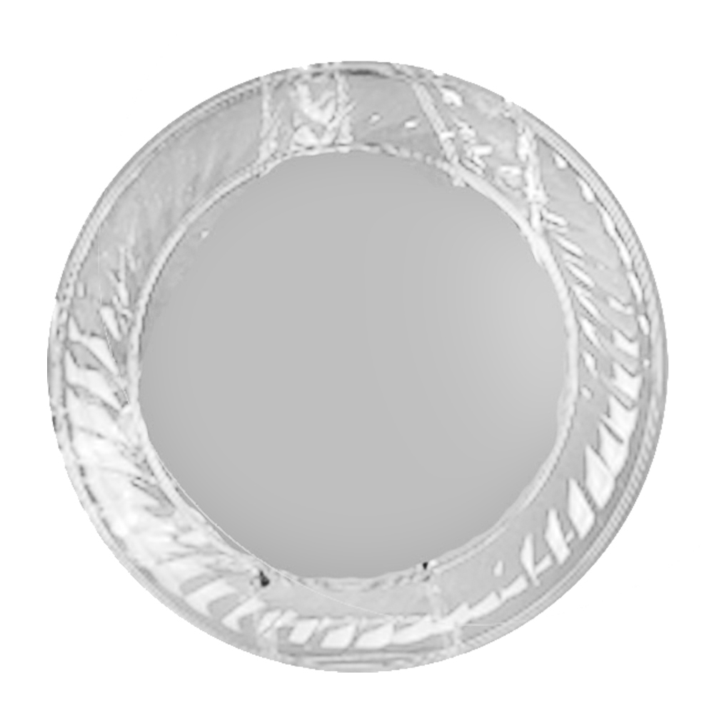 "Novelty Crystal Clear 16"" Round Scalloped Edge Tray 1236"