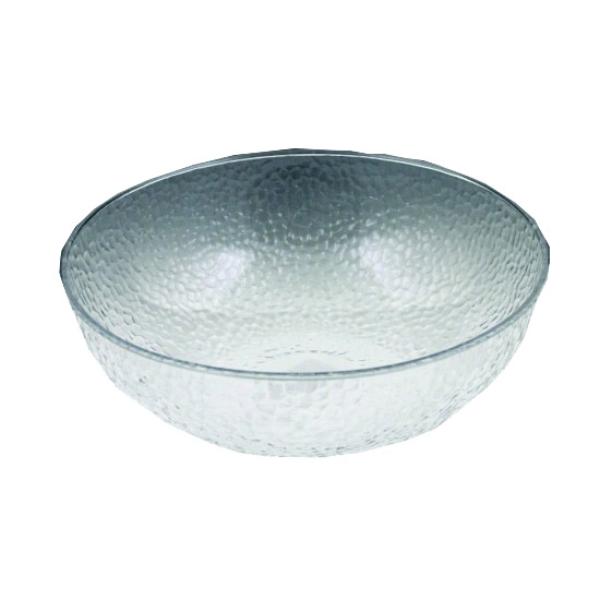 "Maryland Plastics Inc. - Crystalware Clear 12"" Plastic Hammered Bowl MPI03126"