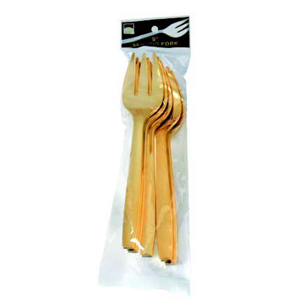 Fineline Settings - Golden Secrets Plastic Serving Fork 5 Pack 769