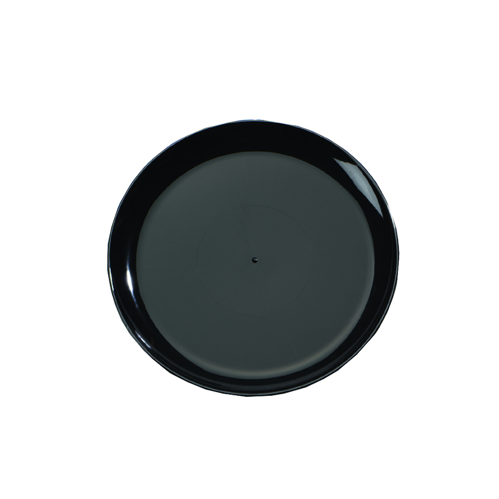"Comet Black 12"" Round Catering Tray A712PBL25"