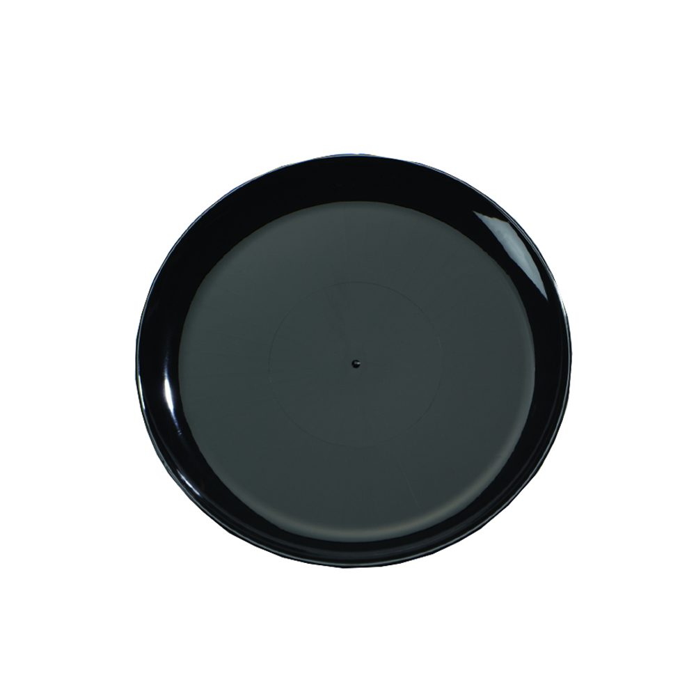 "Comet Black 14"" Round Catering Tray A714PBL25"