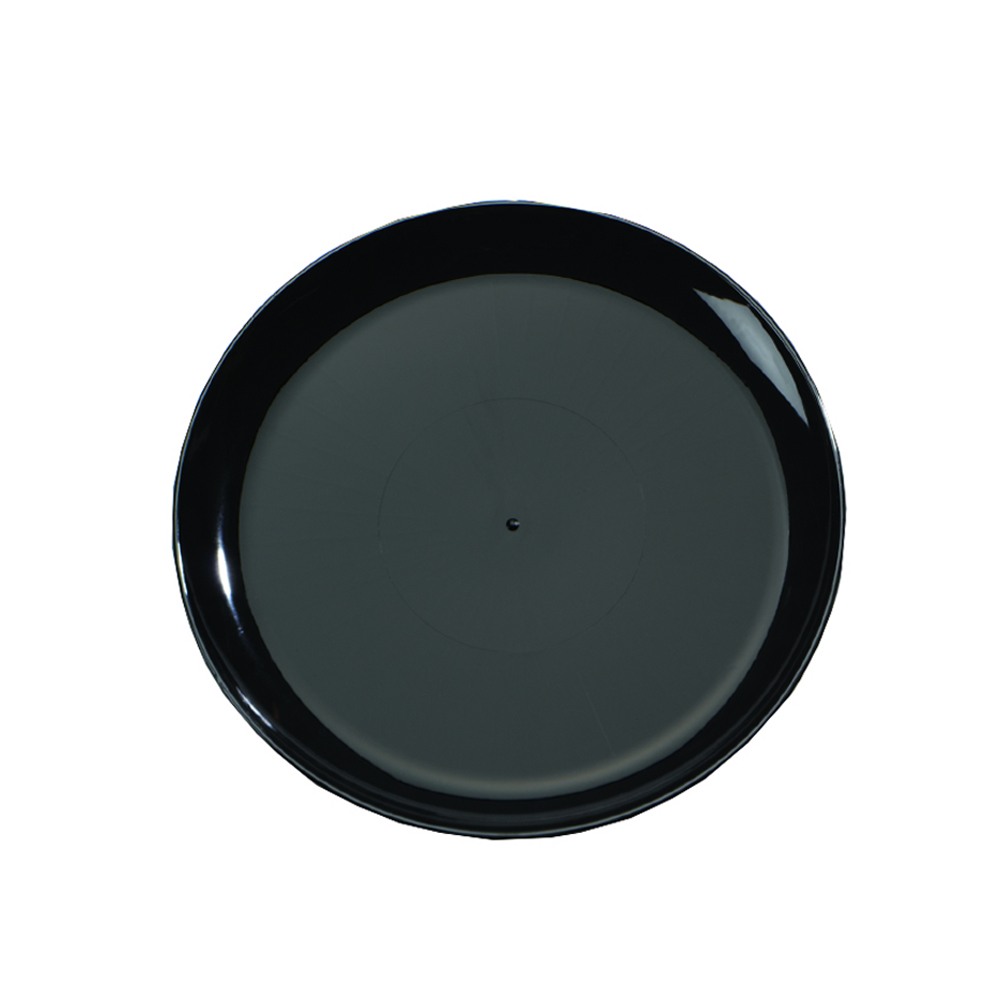 "Comet Black 16"" Round Catering Tray A716PBL26"