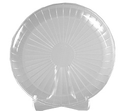 "Comet Clear 16"" Round Catering Tray A716PCL25"