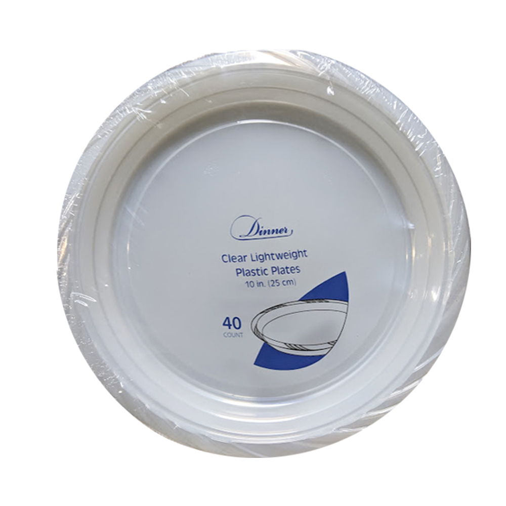 "Clear 10"" Round Plastic Plate 789"