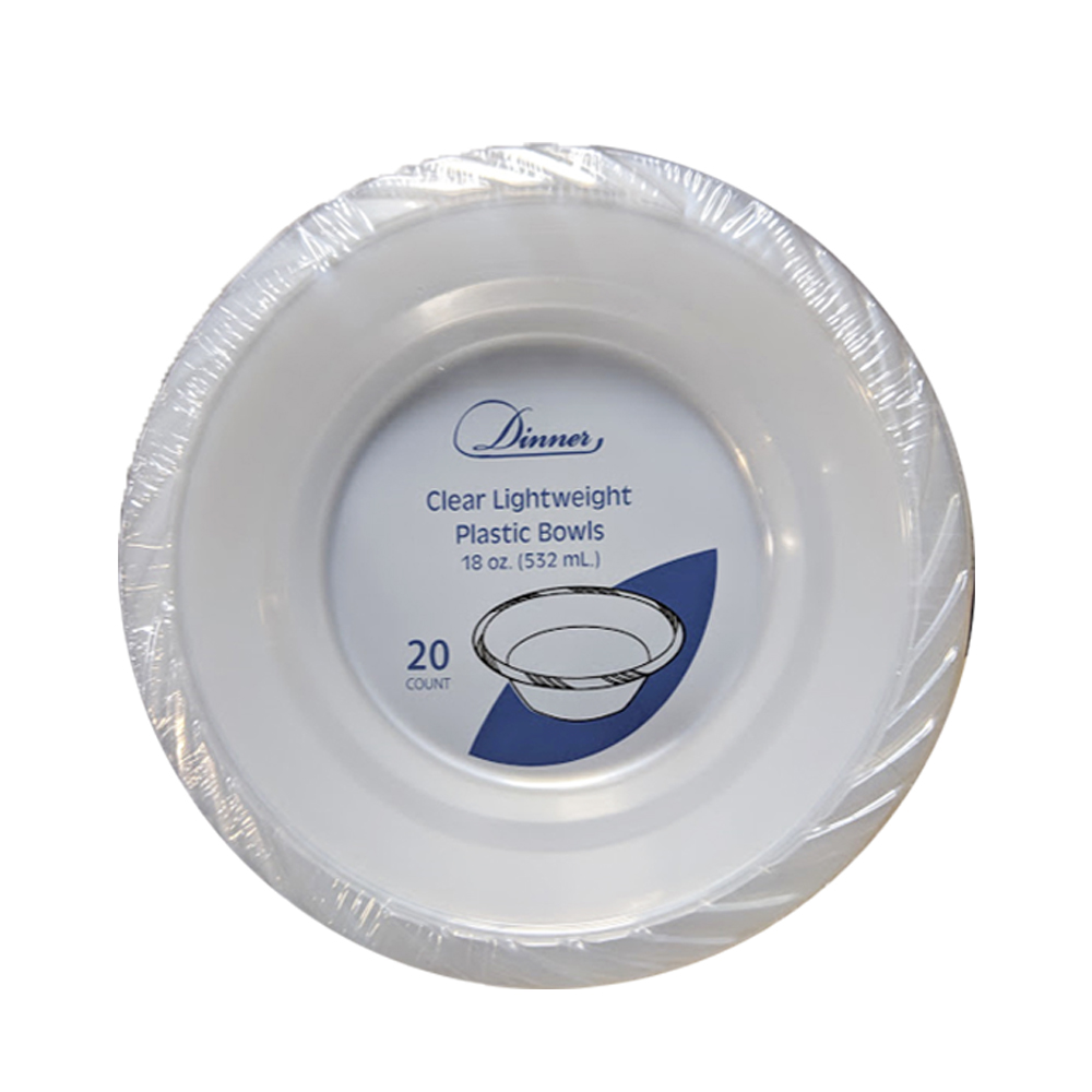 Clear 18 oz. Round Plastic Bowl 792