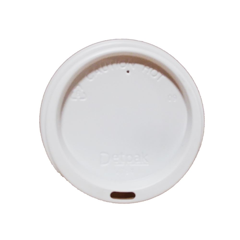 Detpak Packaging White Smooth Dome Lid For 8oz Hot Cup V784S0001