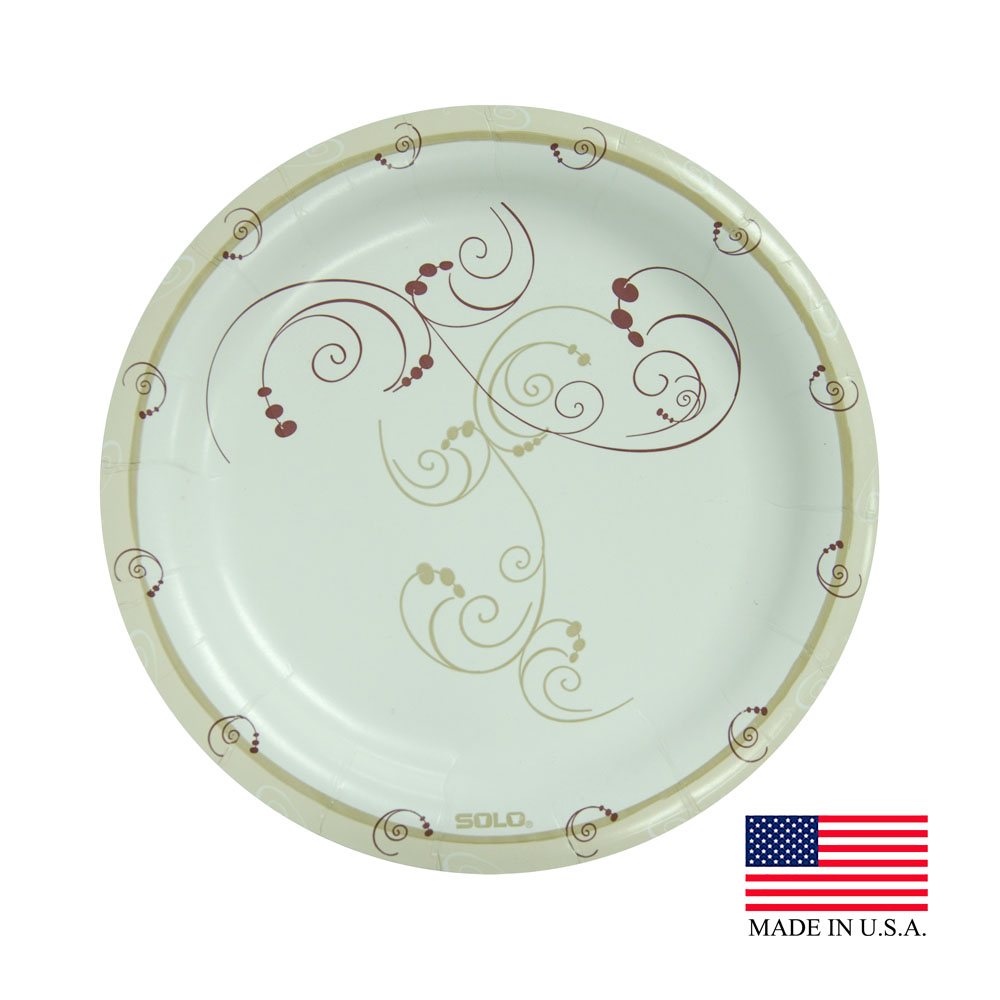 "Solo Symphony 8.5"" Medium Weight Round Paper Plate MP9-J8001"