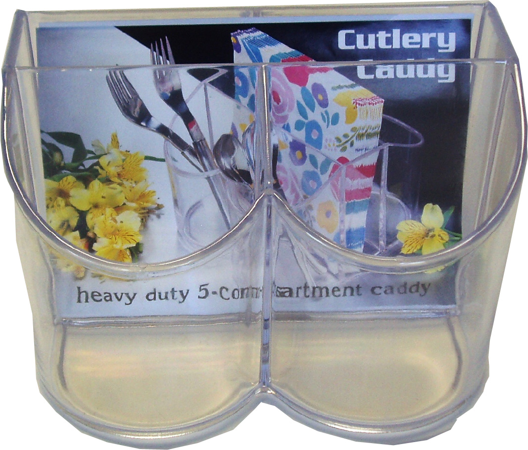 Maryland Plastics Inc. - Sovereign Clear Plastic Cutlery Caddy MPI13616