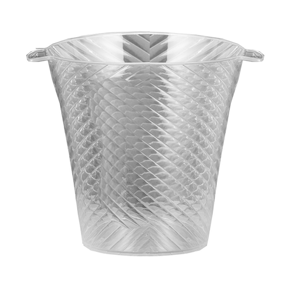 Novelty Crystal Corp. - Clear 144 oz. Plastic Swirl Ice Bucket 728