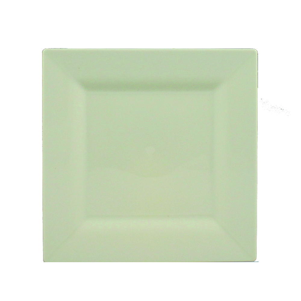 "Maryland Plastics Beige 4.75"" Simply Squared PlateSQ04757"