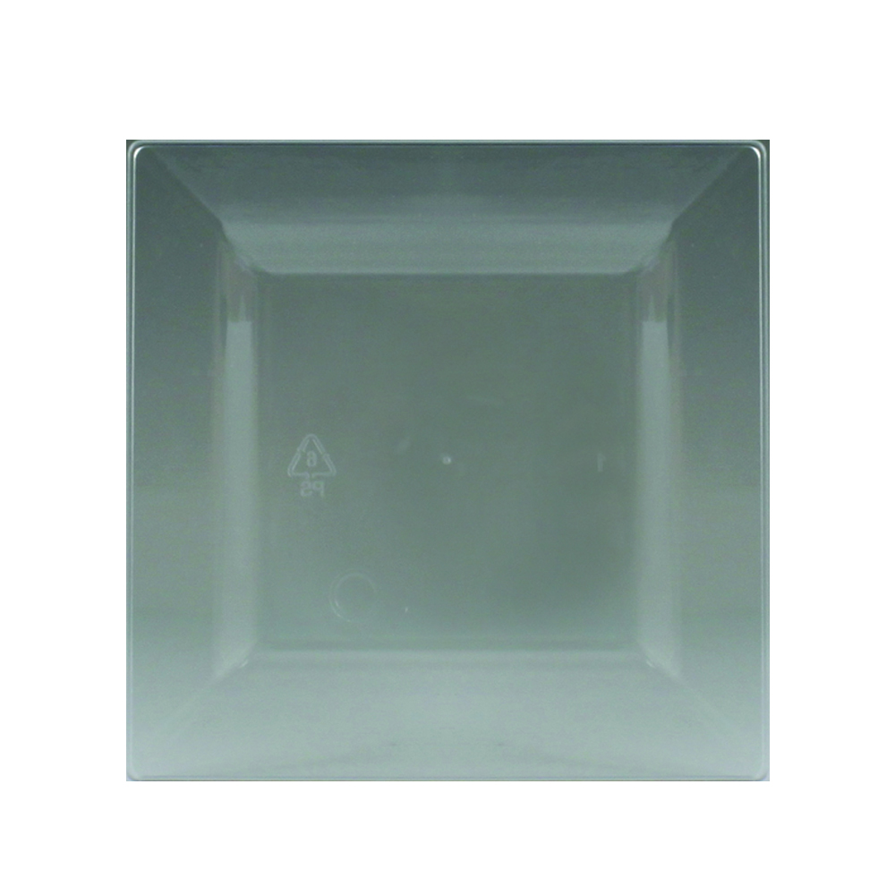 "Maryland Plastics Inc. - Simply Squared Clear 4.75"" Plastic Plate SQ04756"