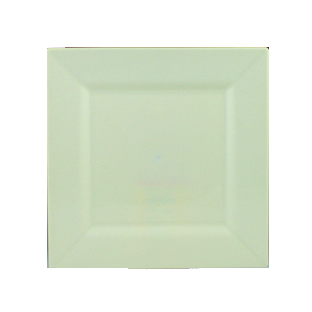 "Maryland Plastics Beige 8"" Simply Squared Plate   SQ10807"