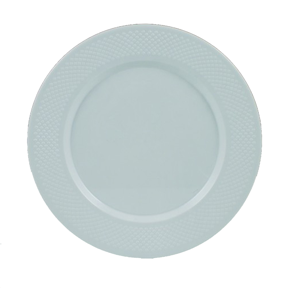 "Maryland Plastics Inc. - Concord White 10.25"" Plastic Dinner Plate CC10000"