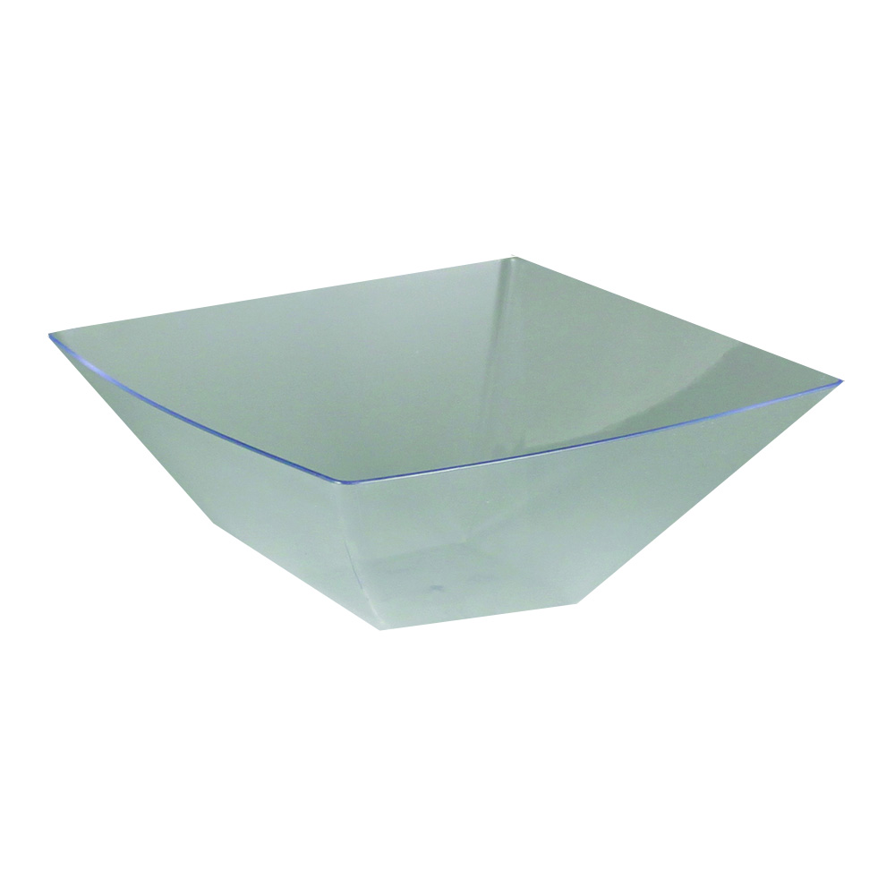Maryland Plastics Clear 20oz Simply Squared       Presentation Bowl SQ80206