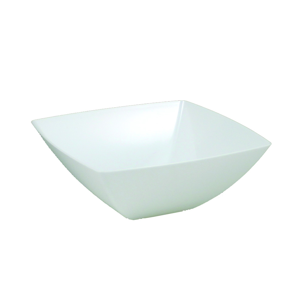 Maryland Plastics Inc. - Simply Squared White 20 oz. Presentation Bowl SQ80200