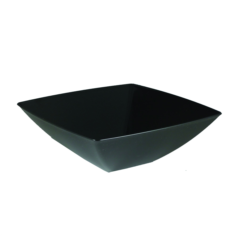 Maryland Plastics Inc. - Simply Squared Black 32 oz. Presentation Bowl SQ80321