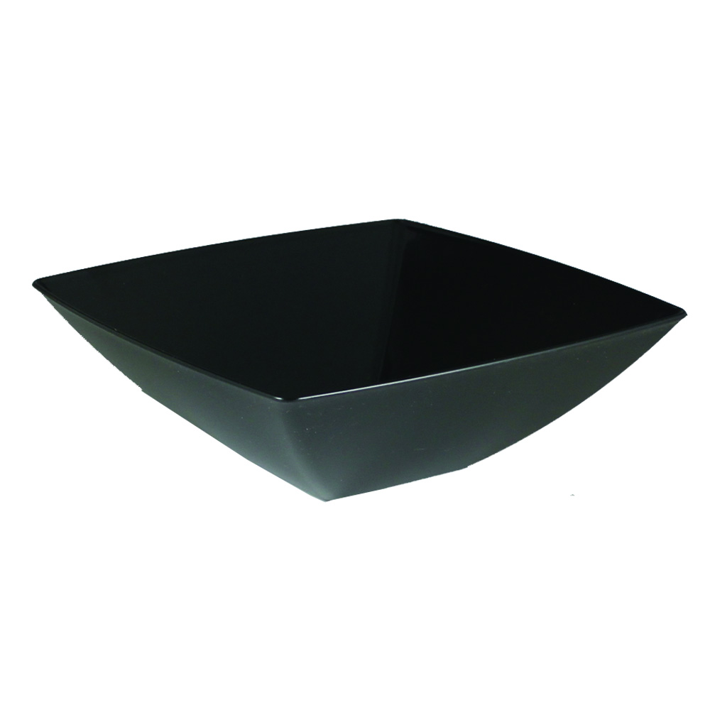 Maryland Plastics Inc. - Simply Squared Black 64 oz. Presentation Bowl SQ80641